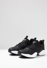 Reebok - SOLE FURY ADAPT - Neutral running shoes - black/white/metallic silver - 2