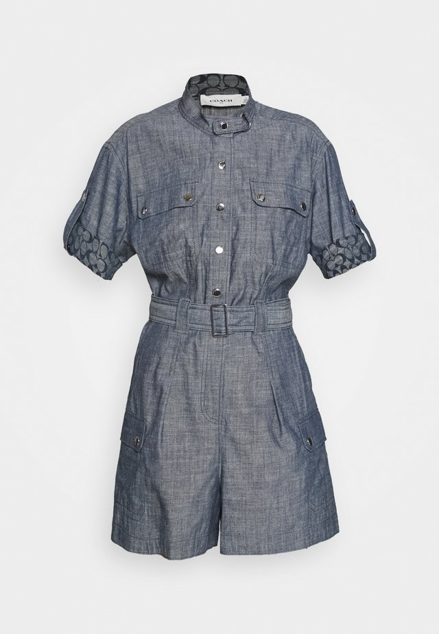ROMPER CHAMBRAY - Overal - blue denim