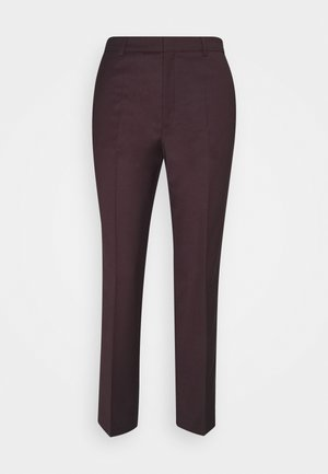 EMMA CROPPED COOL TROUSER - Bukse - maroon