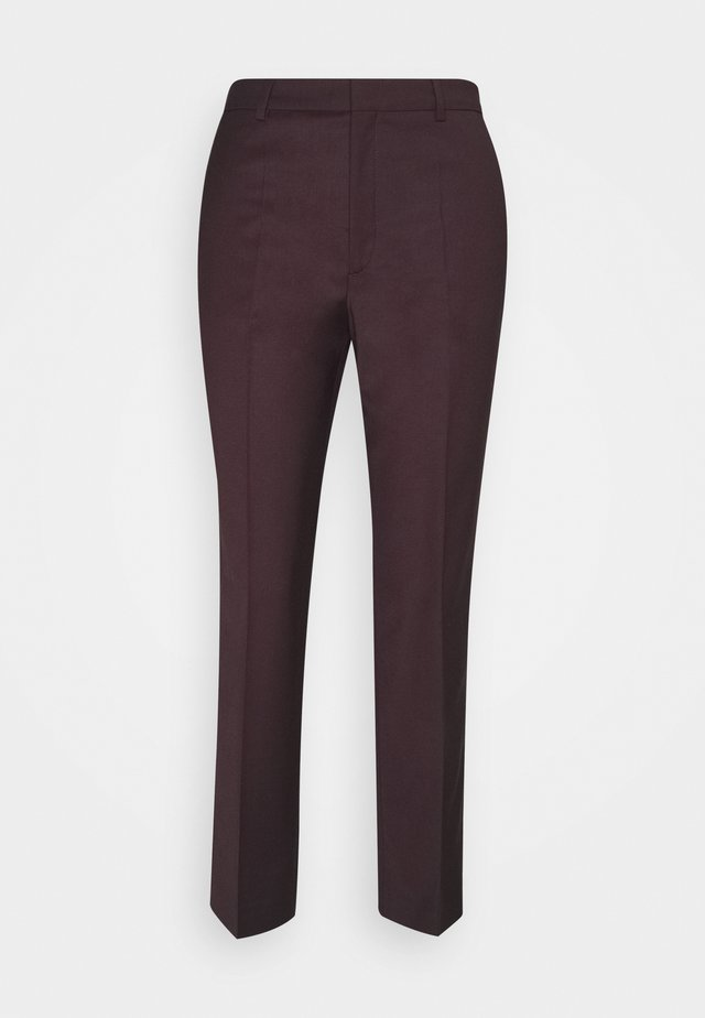 EMMA CROPPED COOL TROUSER - Pantalones - maroon
