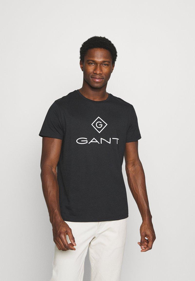 GANT - LOCK UP  - Print T-shirt - black