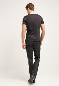 G-Star - 3301 STRAIGHT - Jean droit - black pintt stretch denim - 2