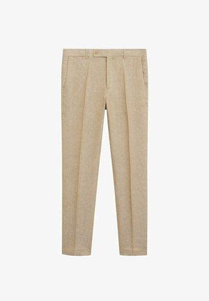 FLORIDA - Suit trousers - open beige