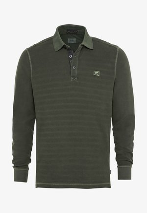 LONG SLEEVED - Polo shirt - mud
