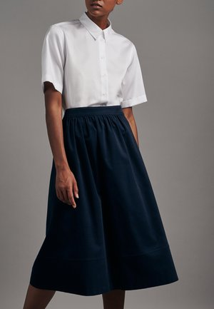 SCHWARZE ROSE - Pleated skirt - dunkelblau