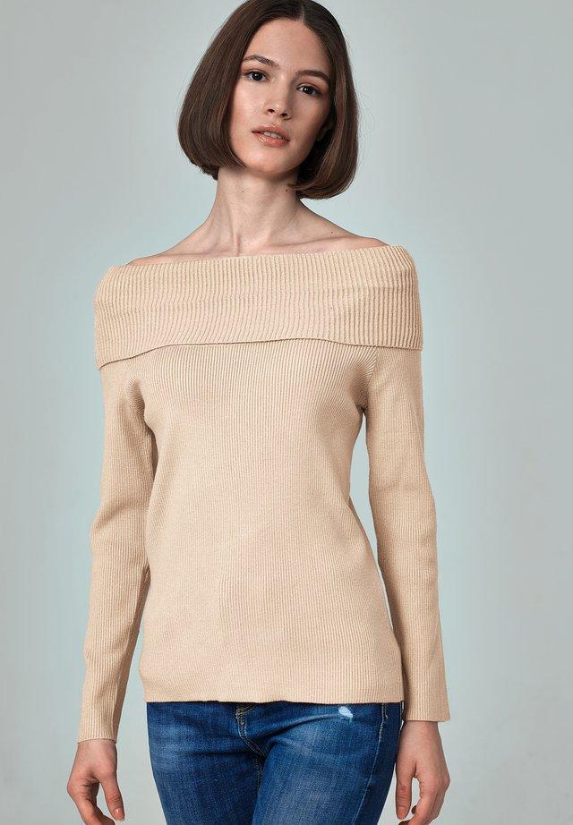 MADONNA - Stickad tröja - beige