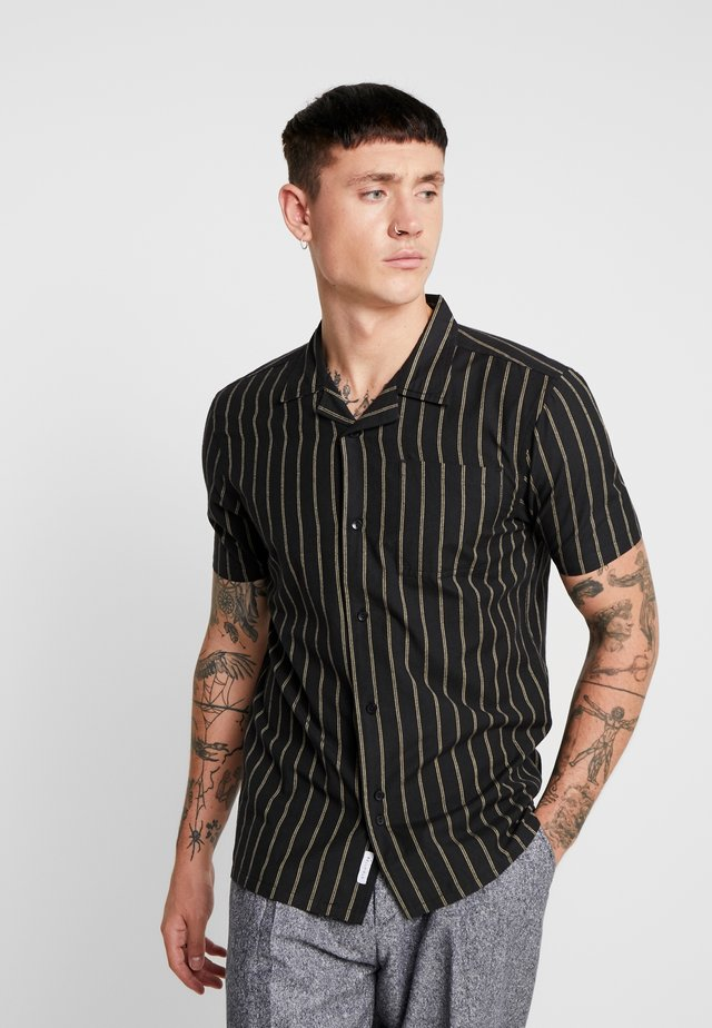 MENS STRIPED SHIRT - Skjorta - black