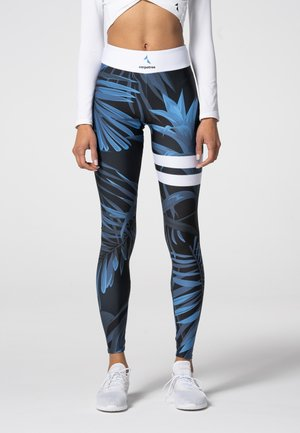 TROPICAL TIGHTS - Leggings - dark blue