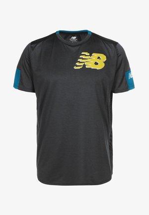 FAST FLIGHT - Print T-shirt - blue / yellow
