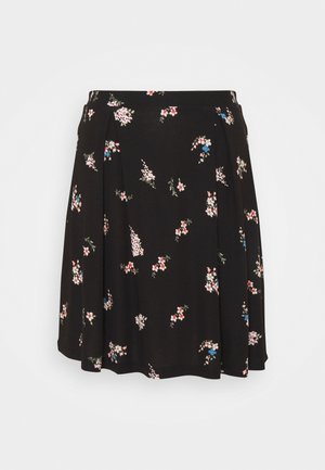 A-line skirt - black/multi-coloured