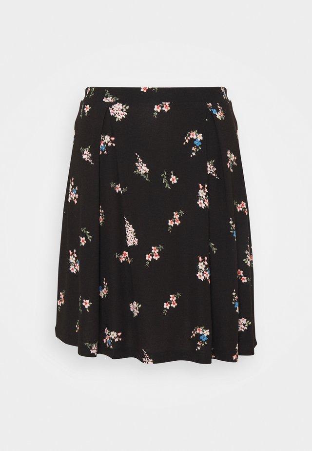 A-line skirt - black/multi-coloured
