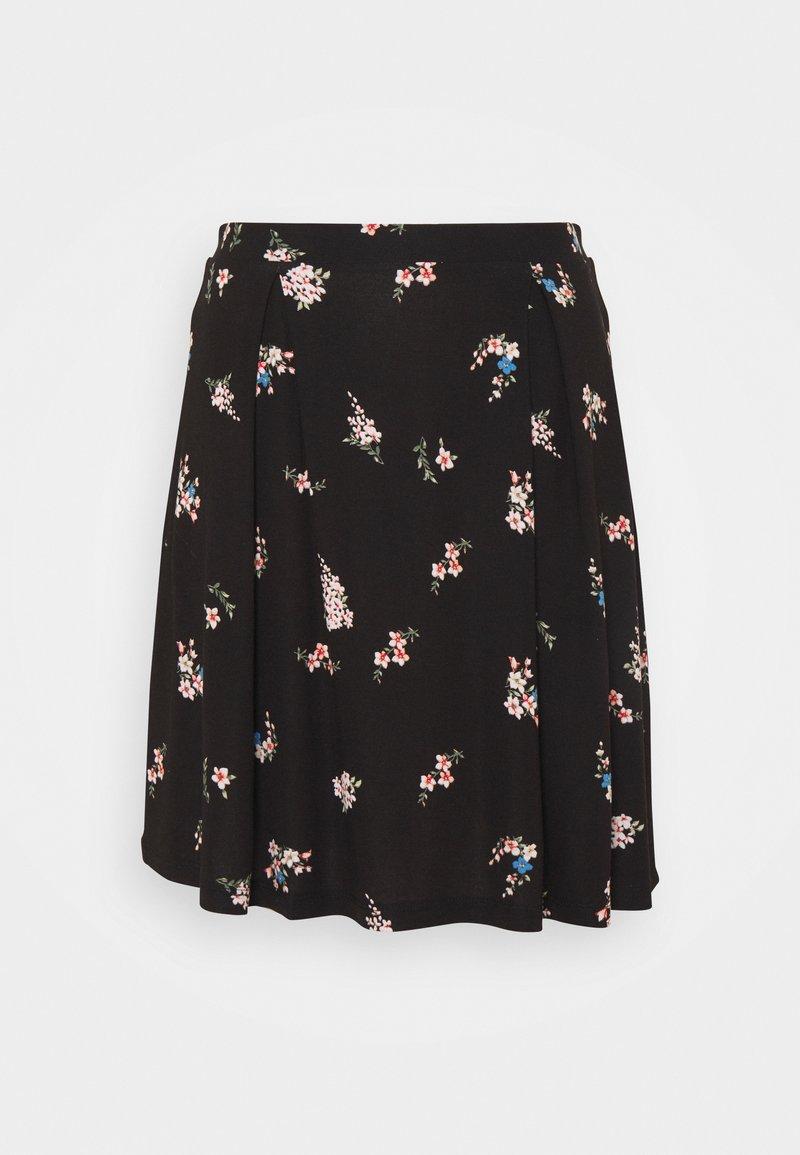 Even&Odd Tall - A-line skirt - black/multi-coloured