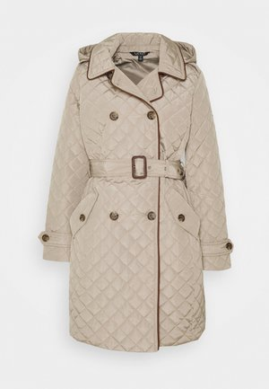 QUILTED  - Trenchcoat - taupe