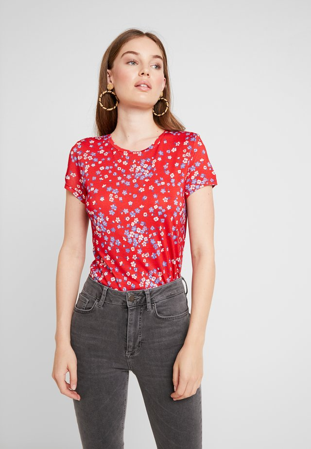 Print T-shirt - red/blue