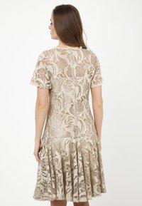 Madam-T - SACASA - Cocktail dress / Party dress - beige - 2