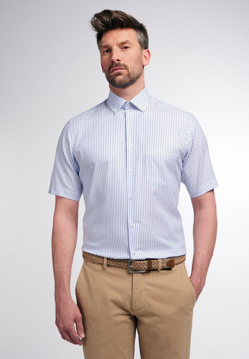 Eterna - MODERN FIT - Shirt - helllblau/weiss