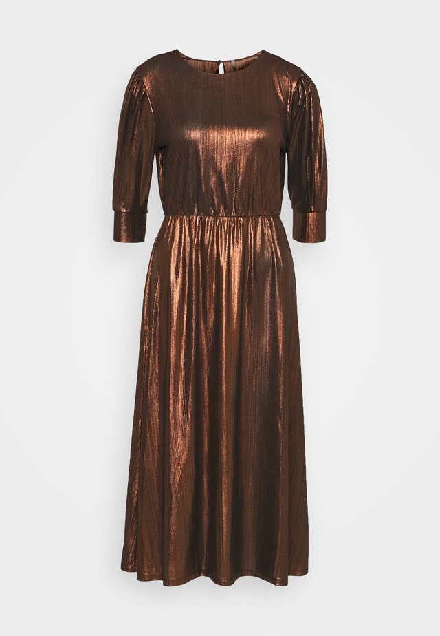 ONLCOCKTAIL SHINE DRESS - Sukienka koktajlowa - black/cappuccino