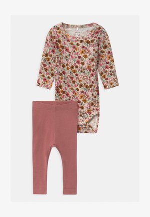 NBFNANA NBFNYLVA SET - Leggings - Trousers - withered rose