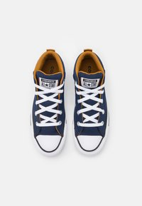 Converse - CHUCK TAYLOR ALL STAR STREET MID UNISEX - High-top trainers - midnight navy/ dark soba/white - 3