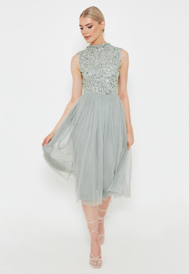 BEAUUT - DIAZ EMBELLISHED SEQUINS   - Cocktail dress / Party dress - sage green