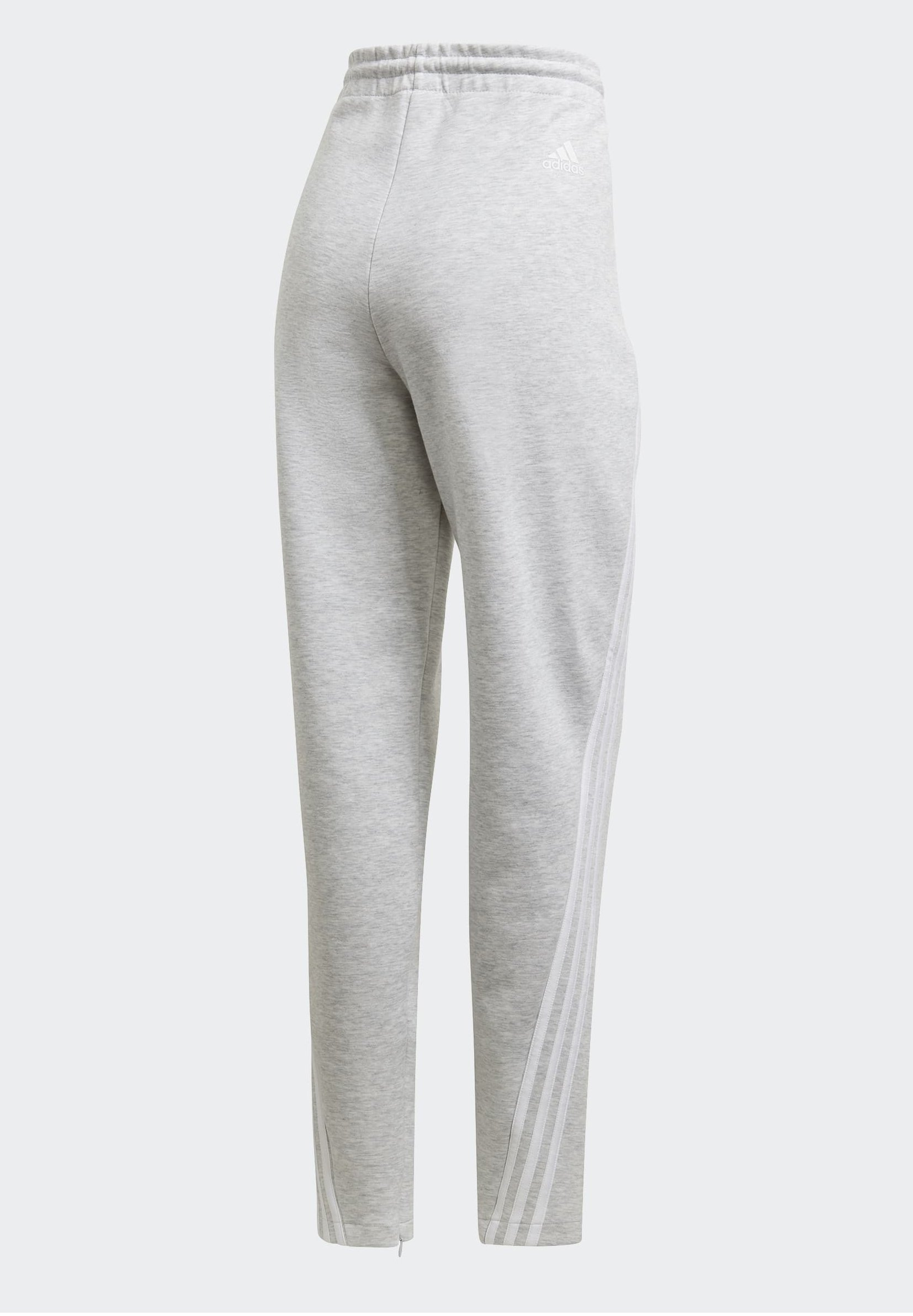 adidas Performance 3-Stripes Doubleknit Zipper - Tracksuit bottoms - Grey U5vjA
