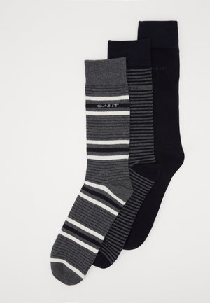 3 PACK MIXED SOCKS - Strumpor - charcoal melange