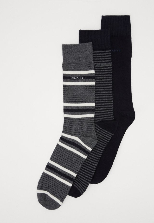 3 PACK MIXED SOCKS - Sukat - charcoal melange