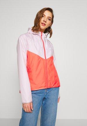 Training jacket - barely rose/magic ember/white