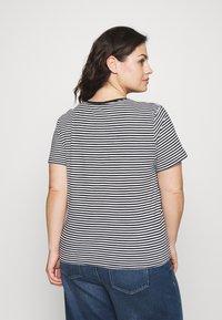 Lauren Ralph Lauren Woman - GENARO SHORT SLEEVE - Basic T-shirt - black/white - 2