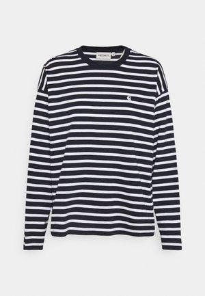 ROBIE  - T-shirt à manches longues - dark navy/white