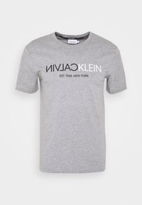 Print T-shirt - mid grey heather