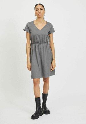 VIDREAMERS V-NECK DRESS - Korte jurk - medium grey melange