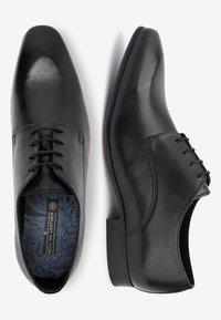 Next - TAN DERBY SHOES - Stringate eleganti - black - 1