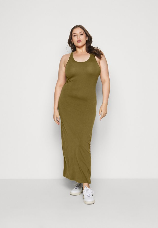 LADIES LONG RACER BACK DRESS - Maxi šaty - summer olive