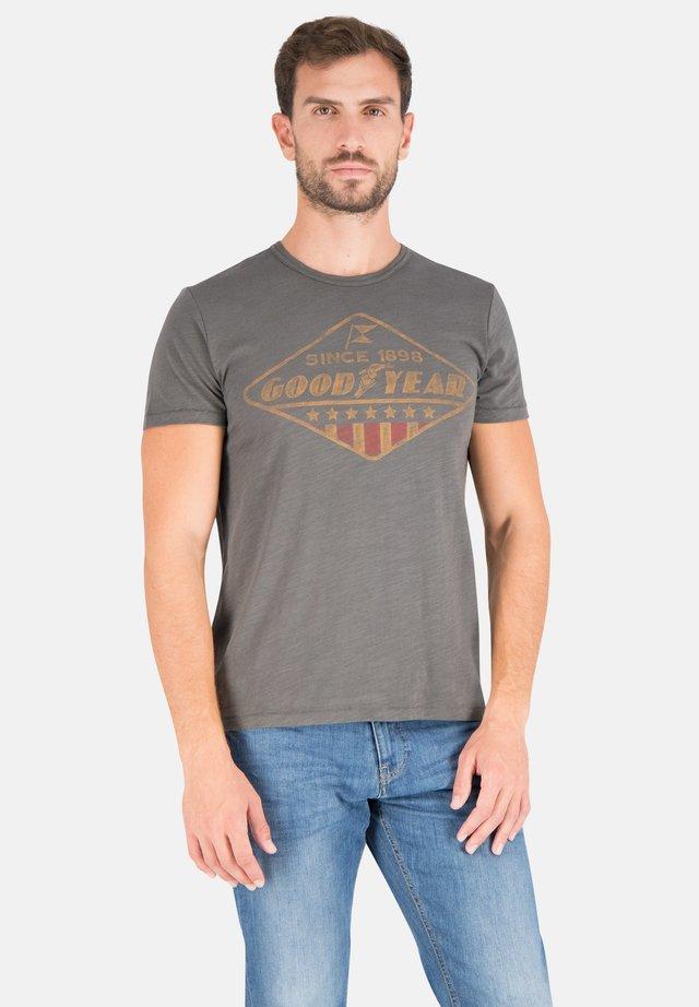 POCONO - Print T-shirt - dusty grey