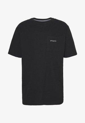LINE LOGO RIDGE POCKET RESPONSIBILI TEE - T-shirt imprimé - black