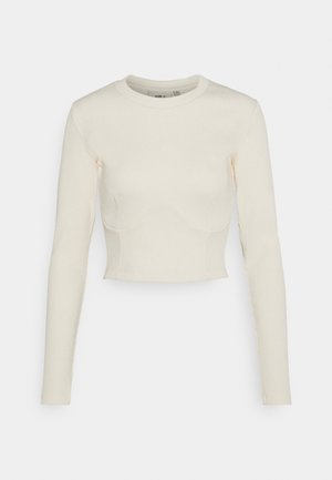PANELLED BODICE SEAMING DETAIL - Long sleeved top - ecru