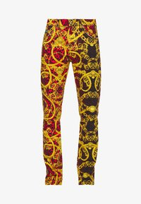 Versace Jeans Couture - MILANO ALLOVER PRINT - Slim fit jeans - red - 7