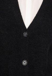 Marc O'Polo - CARDIGAN LONGSLEEVE V-NECK BUTTON CLOSURE HALF-CARDIGAN STIT - Cardigan - black - 4
