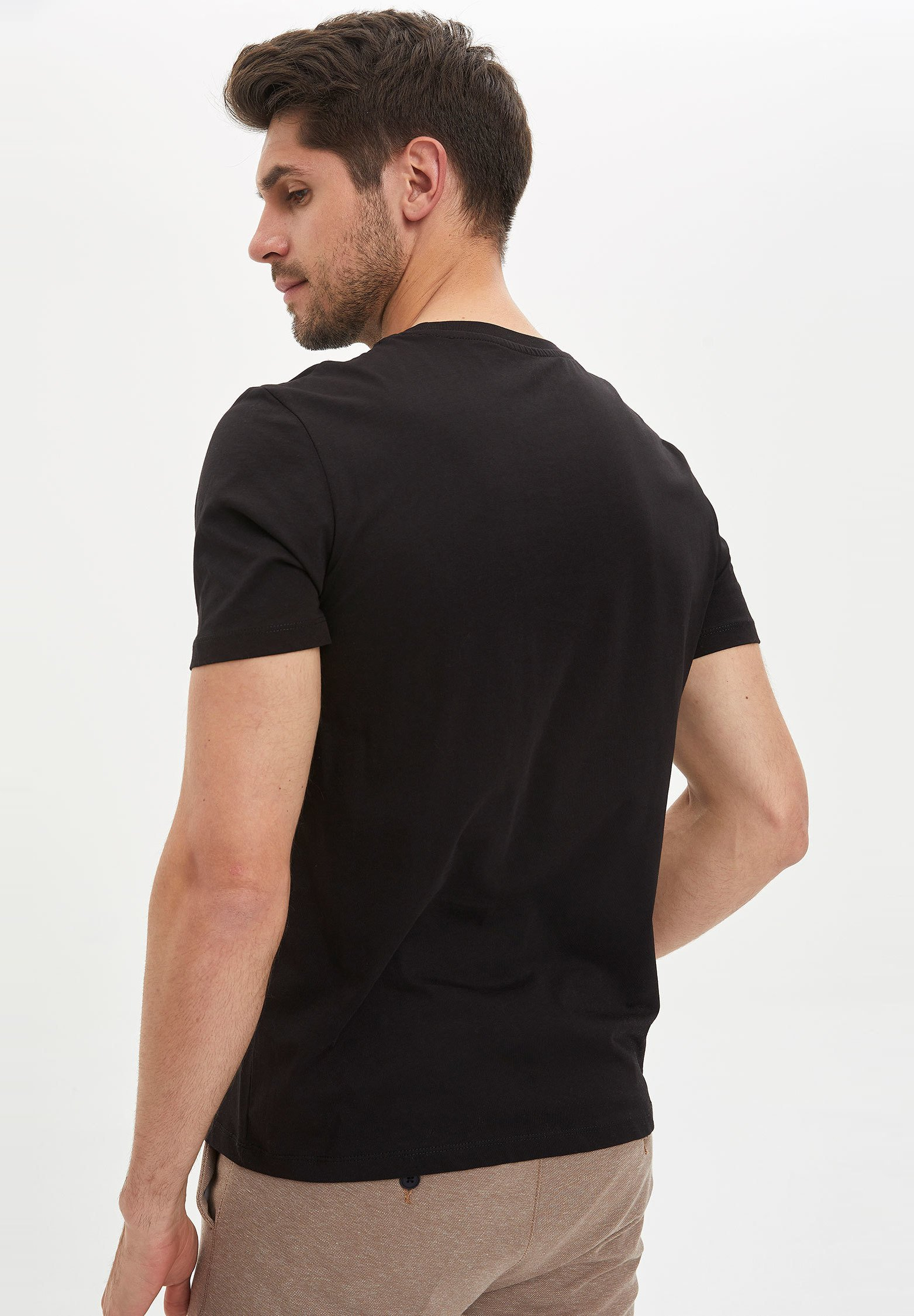 DeFacto Basic T-shirt - black nDpEr