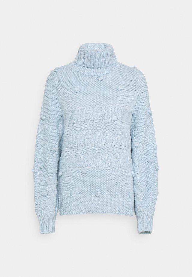 PCDARPER ROLL NECK  - Sweter - light blue