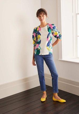 JOANNA OBERTEIL - Long sleeved top - naturweiß, abstraktes palmenmuster