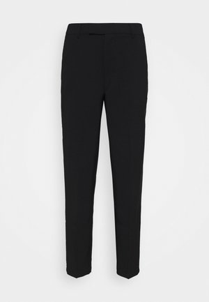 Slim fit business trousers - Kalhoty - black