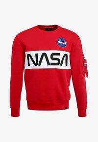 NASA INLAY  - Sweatshirt - speed red
