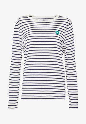 MOA LONG SLEEVE  - Langærmede T-shirts - off-white/navy stripes