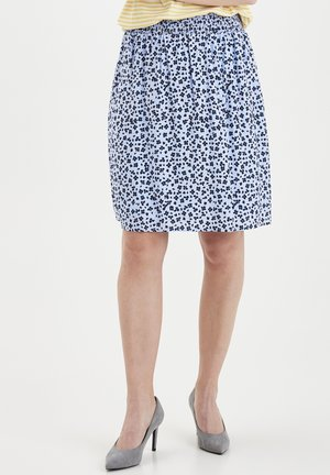 FRJAPETITE  - A-line skirt - brunnera blue mix