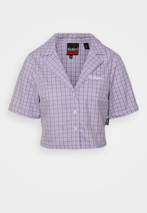 CROPPED CHECK - Blouse - purple
