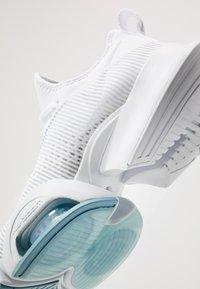 Nike Performance - AIR ZOOM SUPERREP - Sports shoes - white/metallic silver/pure platinum/cerulean - 5