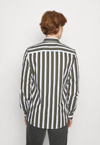 Only & Sons - ONSSANE STRIPED SLIM FIT - Shirt - olive night - 2