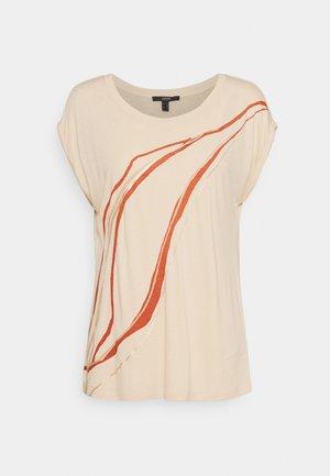 ARTY LINE - Print T-shirt - cream beige